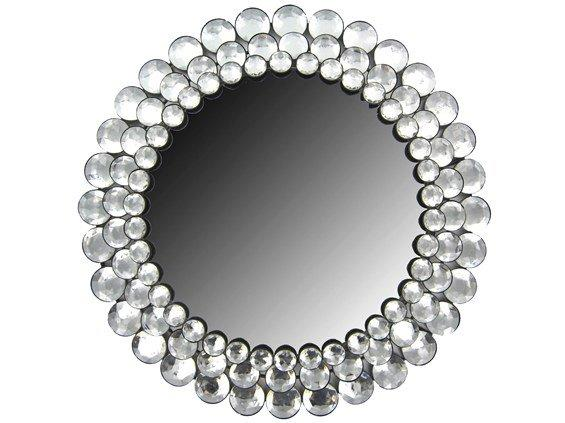 Round Crystal Gemstone Accented Mirror From Hobby Lobby