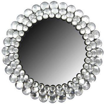 Round Crystal Gemstone Accented Mirror | Shop Hobby Lobby