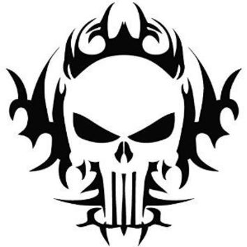 Car decals punisher skull 12x12cm car motorcycle truck decals vinyl waterproof outdoor stickers