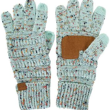 Mint Confetti CC Smart Touch Gloves