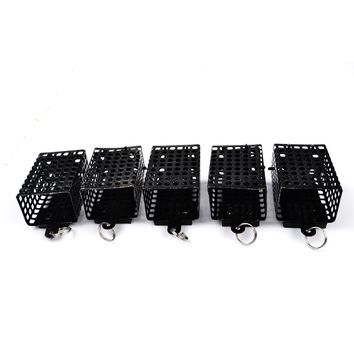 FISH KING 1PC 30g-100g Bait Cage Carp Fishing Trap Basket Feeder Holder Stainless Steel Wire Cage Fish Hook Accessories