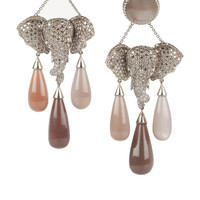 Lydia Courteille | Mhadaratha 18-karat gold, diamond and moonstone earrings | NET-A-PORTER.COM