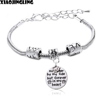 """XIAOJINGLING """"no longer by my side but forever in my heart"""" 2017 Metal Charm Link Chain Bracelets Jewelry Gift For Mother's Day"""