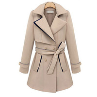 Winter Mosaic Slim Waistband Dust Coat Outerwear