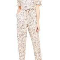 Gal Meets Glam Collection Iris Slim Cut Ankle Length Jumpsuit | Nordstrom