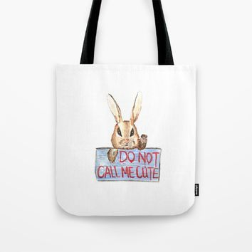 Angry rabbit Tote Bag by Color And Color