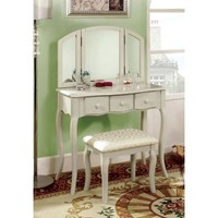 Lerraine Bedroom Vanity Set - White | www.hayneedle.com