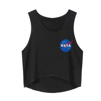 NASA Women Fashion Sleeveless Vest Tank Top