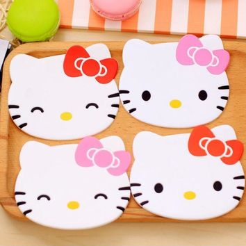 DCCKL72 Hello Kitty coaster kitchen placemat table mat home cup drink mug tea coffee pad drink silicone accessories doilies Fruit