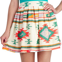 Sunset Out for Adventure Skirt | Mod Retro Vintage Skirts | ModCloth.com