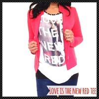 ✨New✨Love is the new red fashion tank