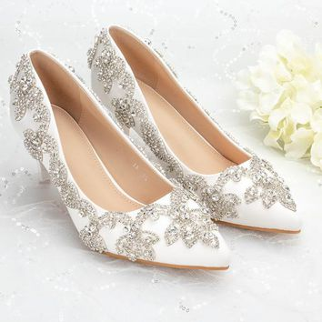 "Raphael Wedding Heels (2"" or 4"" Heel)"