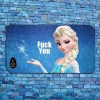 Funny Disney Frozen iPhone Case Cute Mean Elsa Quote Phone Cover  iPhone 4 iPhone 5 iPhone 4s iPhone 5s iPhone 5c Case Mature Adult Case