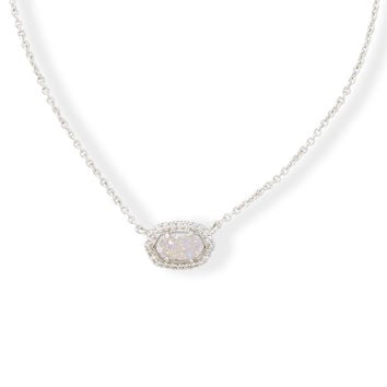 Kendra Scott Chelsea Drusy and Crystal Silver Necklace