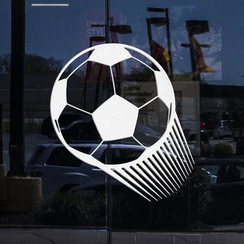 Window Graphics and Wall Vinyl Decal Soccer Ball Sports Play Wall Decor Mural Stickers (ig039w)