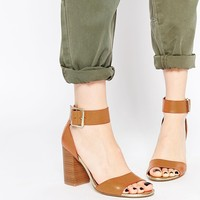 New Look Pour Tan Block Heeled Sandals