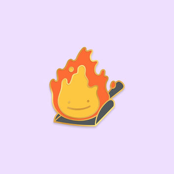 PREORDER CALCIFER Ditto x Anime Movie Enamel Pin [Studio Ghibli Howl's Moving Castle Fire Demon Spirit Hayao Miyazaki Film Pokemon Parody]
