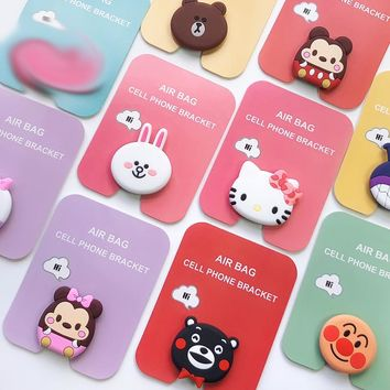 For Xiaomi Phone Holder 360 Degree POP Phone Ring Cartoon Hello Kitty Planet Socket For iphone 7 8 plus xs max Airpops