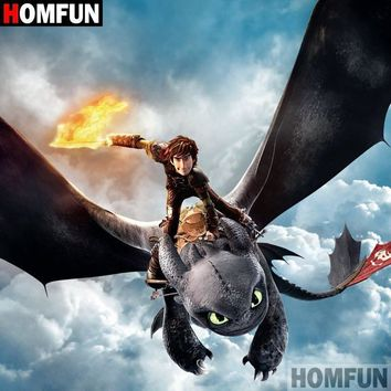 5D Diamond Painting How to Train Your Dragon Hiccup & Toothless Flying Kit