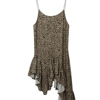 Asymmetrical Leopard Dress