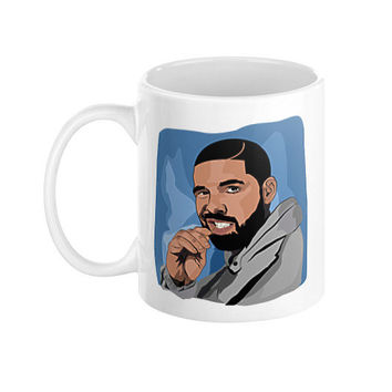 Drake drizzy ovo 6 god hotline bling mem weeknd cole coffee mug xo views