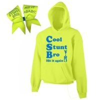 Neon Yellow Cool Stunt Bro Cheer ComBow (Adult Small)