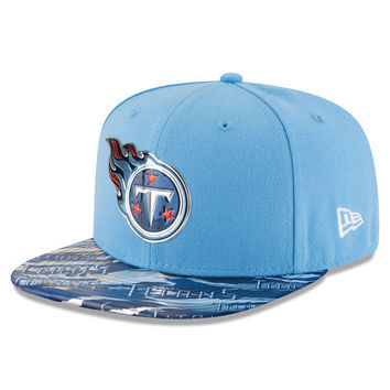 NFL Tennessee Titans New Era Light Blue Color Rush On Field Original Fit 9FIFTY Snapback Adjustable Hat