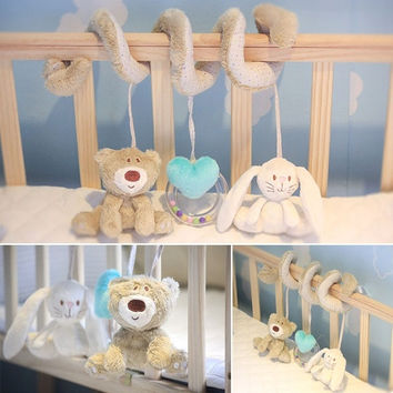 Child Baby Infant Musical Soft Animal Crib Plush toy Developmental Rattle Toy  D_L = 5617708225