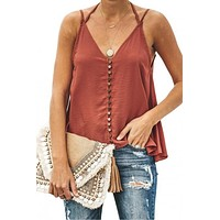 Good To Button up Cami Tank