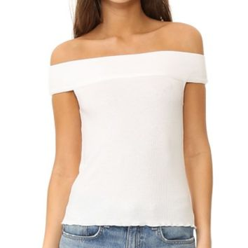 Thermal Off Shoulder Top