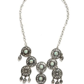 Rio Rancho Turquoise and Silver Statement Necklace