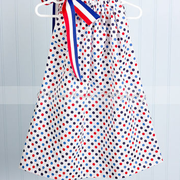 Girl's Pillowcase Dress Fourth of July by Tomastutusandthings