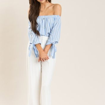 Jules White High Waisted Wide Leg Pants