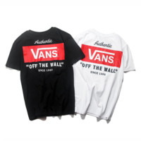 VANS Casual Short Sleeve Round Neck T-Shirt