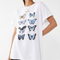 Blue Butterfly Tee | Urban Outfitters