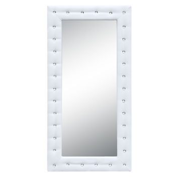 "Tufted Mirror 36"", White"