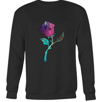 Stained Glass Rose Galaxy Long Sweater