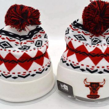 Chicago bulls Women Men Embroidery Beanies Knit Hat Cap-3