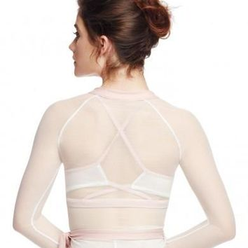 Sheer Back Wrap Sweater A10771W by Capezio