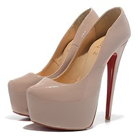 Christian Louboutin Fashion Edgy Red Sole Heels Shoes