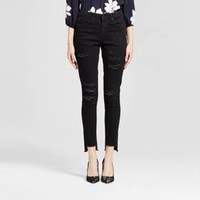 Women's Jeans High Rise Skinny Destroyed - Mossimo™ Black