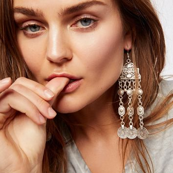 Free People Cascading Coin Drop Earrings