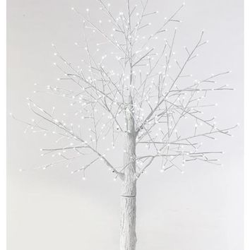 Martha Stewart Living™ Snowy White Lighted Stick Tree - White Christmas Tree - Lighted Christmas Tree - Pre-lit Christmas Tree - Artificial Trees | HomeDecorators.com