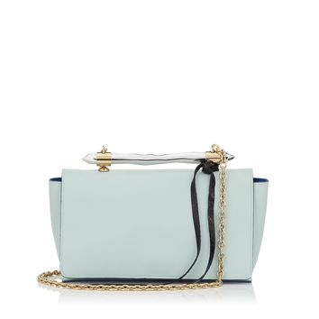 Ice Blue Nappa, Patent and Elaphe Shoulder Bag | Onix | Pre Fall 15 | JIMMY CHOO Bags