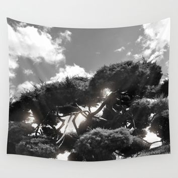 B&W Tree Wall Tapestry by Viviana Gonzalez