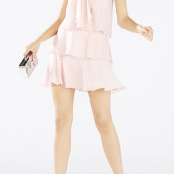 Carlotta Ruffle Halter Dress - Pink