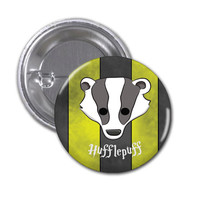 Hufflepuff Button Badge Harry Potter 1 1/2 inch button