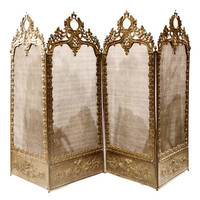 Ornate 1800s French Dressing Screen