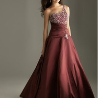 Merlot Beaded Top Gown