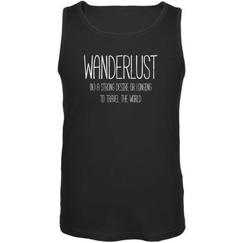 Wanderlust Definition Black Adult Tank Top